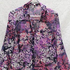 EXPRESS, The Portofino Floral blouse